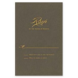 Vera Wang On Weddings Volume II 2016 127070 127045 Response Card