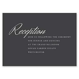 14 and Orange Wedding 127614 127587 Reception Card