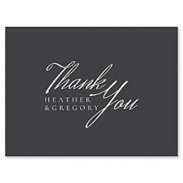 14 and Orange Wedding 127615 127587 Thank You Note