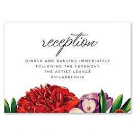 14 and Orange Wedding 127617 127589 Reception Card
