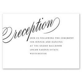 14 and Orange Wedding 127620 127592 Reception Card