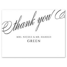 14 and Orange Wedding 127621 127592 Thank You Note