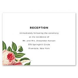14 and Orange Wedding 128911 128878 Reception Card