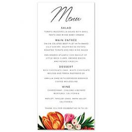 14 and Orange Wedding 128931 127589 Menu Card
