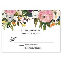 Celebrations Nella Designs - Wedding 127190 127187 Response Card