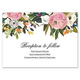 Celebrations Nella Designs - Wedding 127191 127187 Reception Card