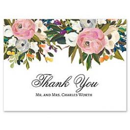 Celebrations Nella Designs - Wedding 127476 127187 Thank You Note