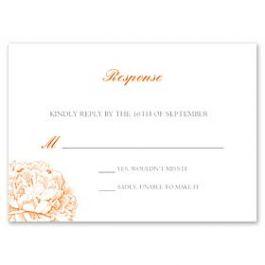 Celebrations Kelly Trench - Wedding 127163 127160 Response Card