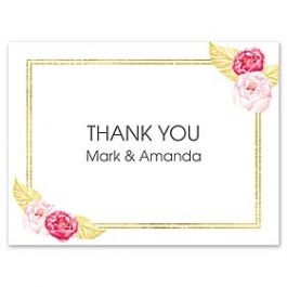 Celebrations Claudia Owen - Wedding 127151 127138 Thank You Note
