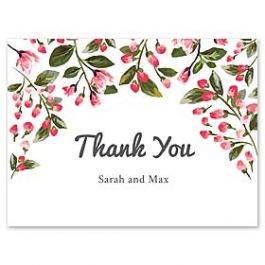 Celebrations Claudia Owen - Wedding 127154 127140 Thank You Note