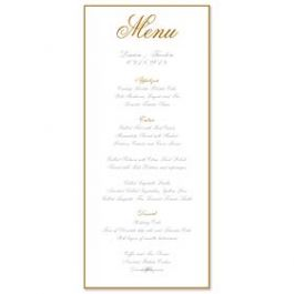 PostScript Press Wedding 121397 121360 Menu Card