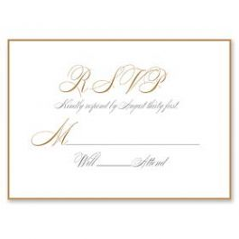 PostScript Press Wedding 121399 121360 Response Card