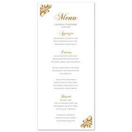 PostScript Press Wedding 121409 121369 Menu Card