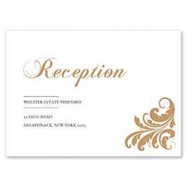 PostScript Press Wedding 121410 121369 Reception Card