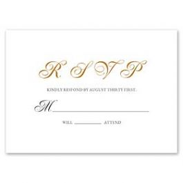 PostScript Press Wedding 121419 121375 Response Card