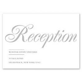 PostScript Press Wedding 121426 121381 Reception Card