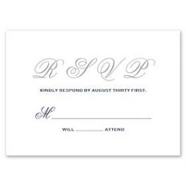 PostScript Press Wedding 121435 121387 Response Card
