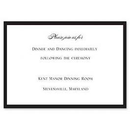 Truly by William Arthur Truly Weddings 123223 123181 Reception Card