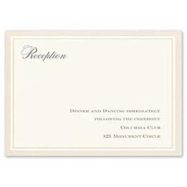 Truly by William Arthur Truly Weddings 123233 123183 Reception Card