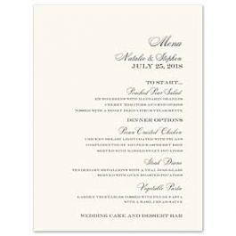 Truly by William Arthur Truly Weddings 123234 123183 Menu Card