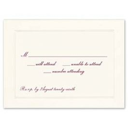 Truly by William Arthur Truly Weddings 123241 123187 Response Card
