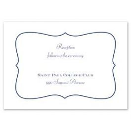 Truly by William Arthur Truly Weddings 123253 123192 Reception Card