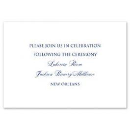 Truly by William Arthur Truly Weddings 123255 123193 Reception Card