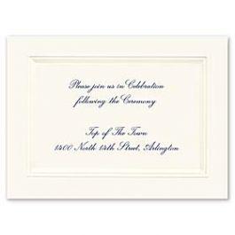 Truly by William Arthur Truly Weddings 123257 123195 Reception Card