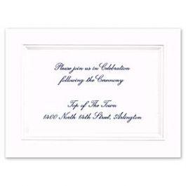 Truly by William Arthur Truly Weddings 123259 123196 Reception Card