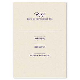 Truly by William Arthur Truly Weddings 123260 123197 Response Card