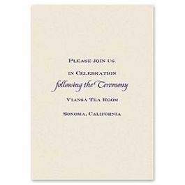 Truly by William Arthur Truly Weddings 123261 123197 Reception Card