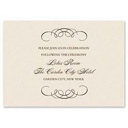 Truly by William Arthur Truly Weddings 123262 123198 Reception Card