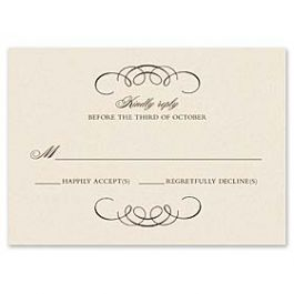 Truly by William Arthur Truly Weddings 123263 123198 Response Card