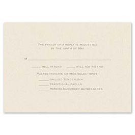 Truly by William Arthur Truly Weddings 123264 123199 Response Card