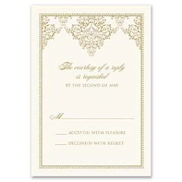 Truly by William Arthur Truly Weddings 123268 123201 Response Card
