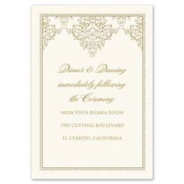 Truly by William Arthur Truly Weddings 123269 123201 Reception Card