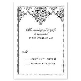 Truly by William Arthur Truly Weddings 123270 123202 Response Card