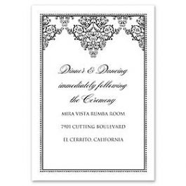 Truly by William Arthur Truly Weddings 123271 123202 Reception Card