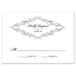 Truly by William Arthur Truly Weddings 123272 123203 Response Card