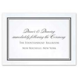 Truly by William Arthur Truly Weddings 123277 123205 Reception Card