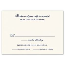 Truly by William Arthur Truly Weddings 123278 123206 Response Card