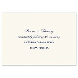 Truly by William Arthur Truly Weddings 123279 123206 Reception Card