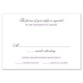 Truly by William Arthur Truly Weddings 123280 123207 Response Card