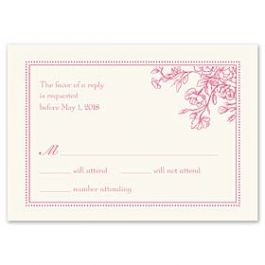 Truly by William Arthur Truly Weddings 123284 123209 Response Card