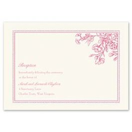 Truly by William Arthur Truly Weddings 123285 123209 Reception Card