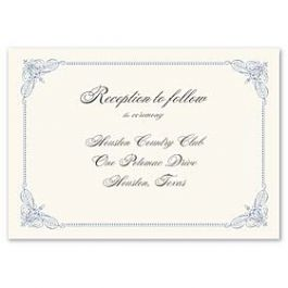 Truly by William Arthur Truly Weddings - Digital 123374 123300 Reception Card