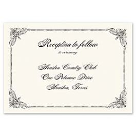 Truly by William Arthur Truly Weddings - Digital 123378 123301 Reception Card