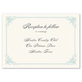 Truly by William Arthur Truly Weddings - Digital 123380 123303 Reception Card