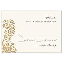 Truly by William Arthur Truly Weddings - Digital 123381 123305 Response Card