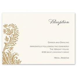 Truly by William Arthur Truly Weddings - Digital 123382 123305 Reception Card